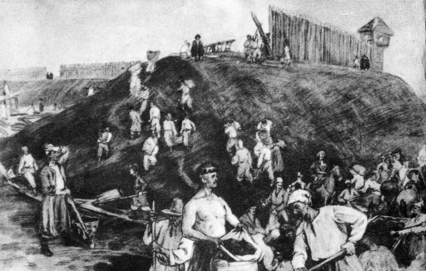 будівництво бєльовської фортеці
