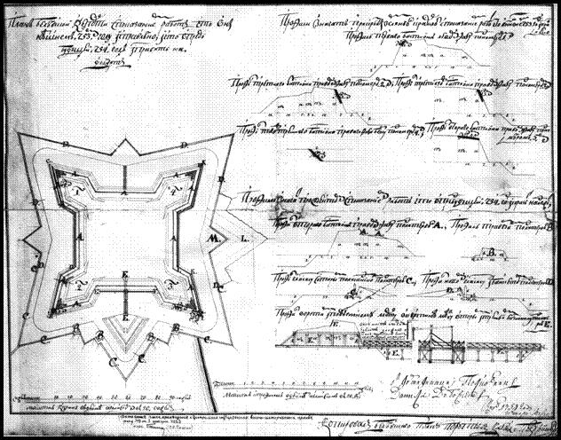 план схема ремонту Бєльовської фортеці